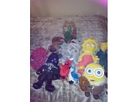 The Simpson Minions Starwars Dinosures Plush Toys Job Lot
