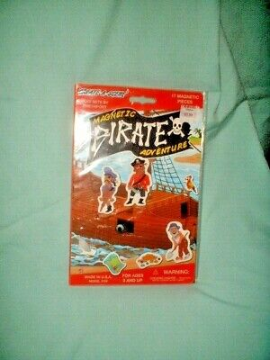 Smethport PLAY SET Create-A-Scene Magnetic PIRATE ADVENTURE 17 Pieces NEW SEALED Playset Smethport Toys