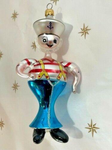 "Rare 1994 Christopher Radko ""Ships Ahoy"" Sailor Italian  Christmas Ornament"