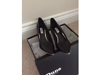 Dune Ladies Black stylish Shoes Size 5 only worn once Excellent Condition
