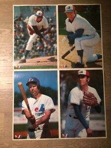 MONTREAL EXPOS 1973 VACHON PLAYER ACTION POSTERS