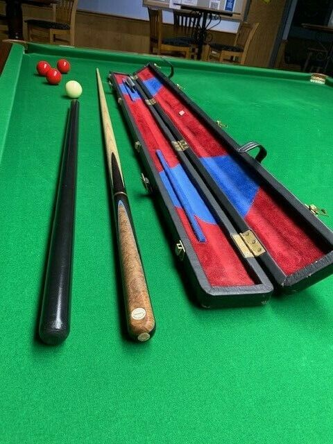 TONY GLOVER 3/4 HAND MADE SNOOKER CUE and ULTRA RARE GLOVER LEATHER CASE SET