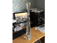 Glass Column Table Lamp with Decorative Bulb