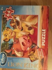 Disney Toy Story puzzle 4 + and Disney The Lion King puzzle 3 +