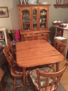 Oak Dining Room Table And China Cabinet For Sale