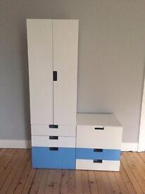 Ikea children's 'STUVA' wardbrobe and chest of drawers
