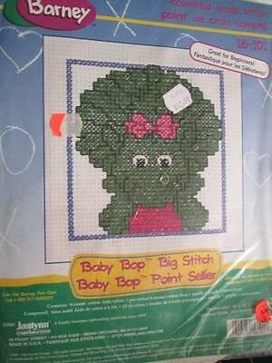 Barney Baby Bop Big Stitch Cross Stitch Kit #16-101- 10x10 Inches-25.4x25.4 cm