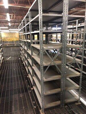 Used Metal Shelving 36 X 18x7 Ft Tall