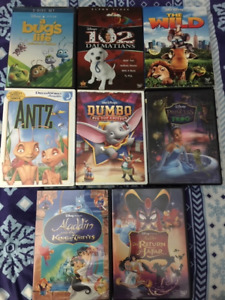 Disney and Kids Movies DVDs