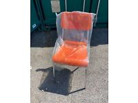 Orange and Lime Bistro Chairs