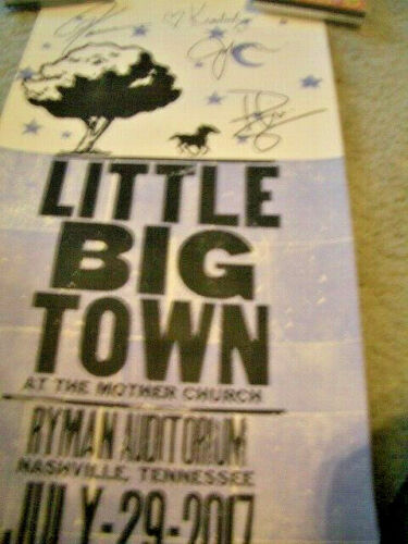 2017 Little Big Town Ryman Autographed  Hatch Poster