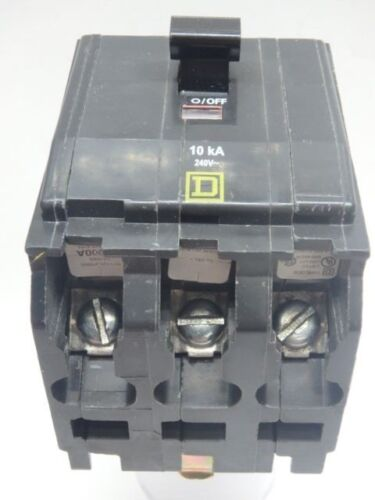 AMAT  Mag Therm 3-Pole 240 VAC 15 A Bolt-on QOB3155237 Square D Circuit Breaker