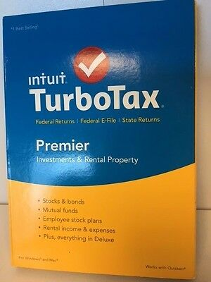 Intuit Turbotax Premier Federal E File   State 2015 For Windows Or Mac Turbo Tax
