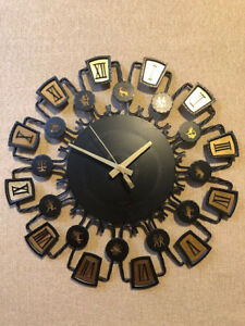 Metal Zodiac Wall Clock