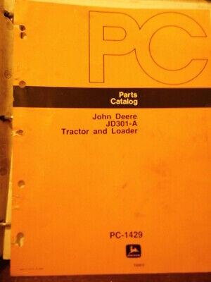 John Deere 301a Tractor Loader Parts Catalog Diagrams 1073 Pc 1429 Binder