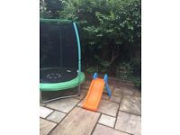 Trampoline and Slide