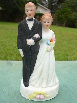 Groom Porcelain Wedding Cake Topper - Vintage Style Porcelain Wedding Cake Bride and Groom Topper.