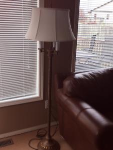 5 Foot Wrought Iron 3 Way Floor Lamp