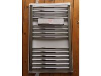 Chrome towel radiator 500 x 800 from Screw fix.