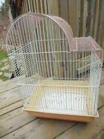 3 different Bird cages, great Shabby chic decor, plants, etc.