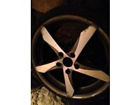 Used Alloy wheels with tyres, 5 stud, set of four.