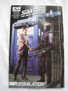 STAR TREK NEXT GENERATION / DOCTOR WHO :ASSIMILATION # 6.TIPTON,PURCELL.IDW.2012