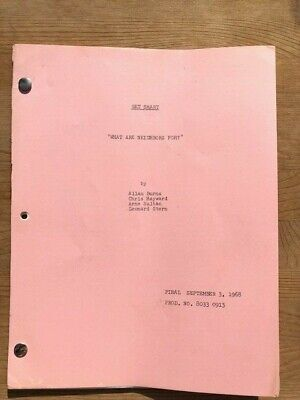 1967 GET SMART TV SHOW SCRIPT Original From Camera Operator