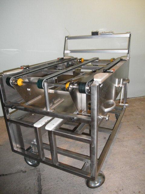 VA einschleusewagen nastro trasportatore per PV- moduli in acciaio inox manuale