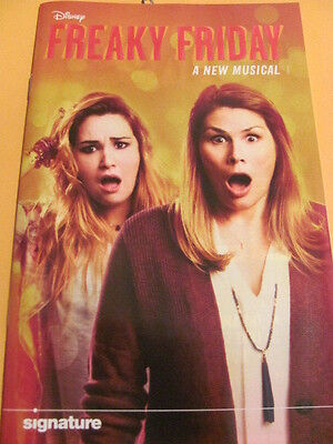 FREAKY FRIDAY Playbill  WASH DC PREMIERE WORLD PREMIERE Sig. Theatre Musical