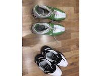 Nike Golf shoes size 9.5 and golf balls, Callaway, Taylor made srixon