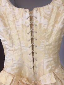 Beautiful Jayne Boulton Buttermilk Silk Wedding Dress from Surrey Brides