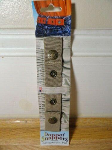 Kids DAPPER SNAPPER Adjustable Toddler Belt Little Belts With Snaps Light Brown