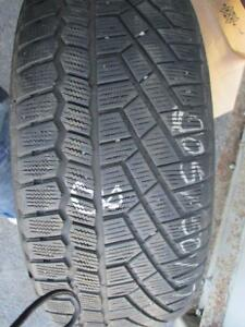 205/50 R17 SINGLE CONTINENTAL WINTER TIRE USED SNOW TIRE - APPROX. 85% TREAD