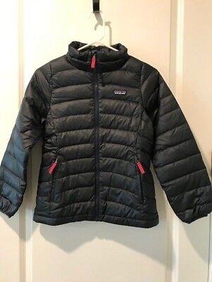 Patagonia Girls Kids Down Sweater Jacket Smolder Blue MSRP (Patagonia Kids Girls Jacket)