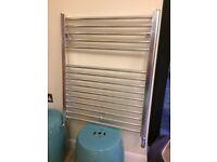 Chrome Heated Towel Rail approx 78cm tall x 63cm wide