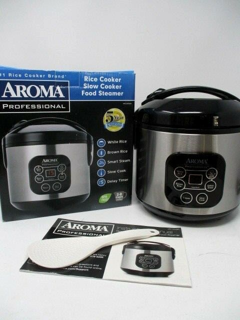 Aroma Professional Slow Cooker Rice Steamer ARC-934SBD New In Box