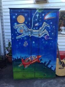 hand painted children's wardrobe or storage Geelong Geelong City Preview