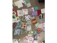 Job lot craft supplies decoupage napkins .stickers and sequins