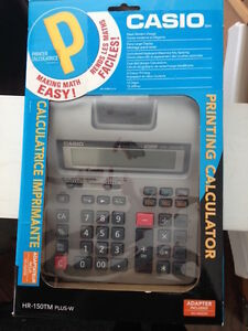 Printing Calculator Casio HR-150TM PLUS W-never used