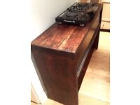 DJ Deck Stand - Handmade from Solid Dark Oak - Beautiful Item for Home, Bar or Club.