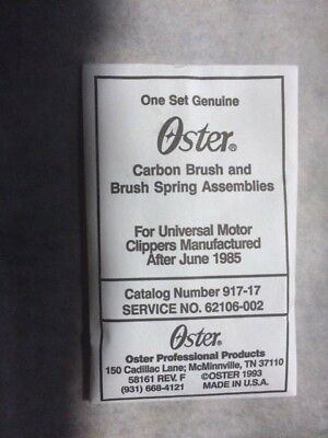 Oster A-5 Classic 76 Replacement Parts Carbon Brush Set 042584-025 Dog Clipper