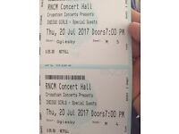 2 x Indigo Girl tickets - Thursday 20th July 2017 - Manchester