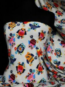 Polar-fleece-anti-pill-fabric-owl-Q1114-OWL