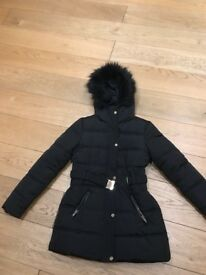 Oasis size small black parka year old in excellent condition