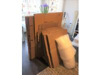 Bargain bundle of moving boxes & bubble wrap