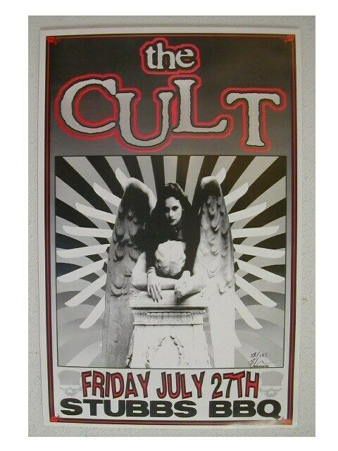 Cult Handbill The Cult Poster Stubbs Austin