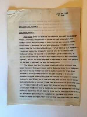 Virginia Held Original Hand Typed Manuscript From The Reporter Magazine 1965