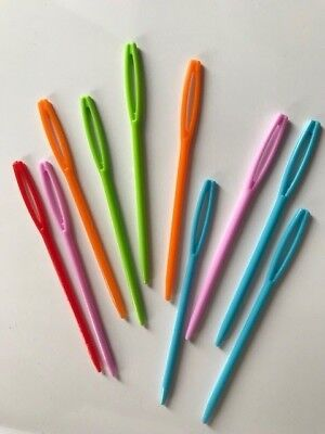 10 Nadeln Plastiknadeln Kinder Vernähen 7 cm Nähen Flicken Handarbeit Zubehör ()