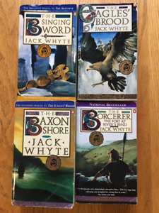 Four classic fantasy novels by Jack Whyte