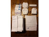 Unused reusable cotton nappies - Bambino Mio Birth to Potty Pack + extras RRP £130
